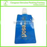 Plastic portable customized drinking water pouch