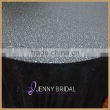 SQN#6 universal charcoal black sequin fabric round table cloth