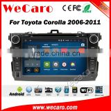 Wecaro WC-TC8762 android 5.1.1 car radio gps for toyota corolla 2006-2011dvd navigation system Bluetooth WIFI 3G Playstore