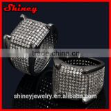 2014 high quality factory design micro pave cz new model black gold mens designer finger rings