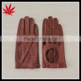 Women leather gloves for driving