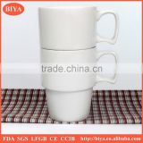 white coffee mug cup stacking cheap white porcelain round stacked coffee cup no decal printing tea mug