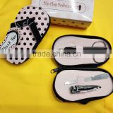 Wholesale Pink Polka Flip Flop Four Piece girls Manicure Pedicure Set for Wedding Souvenirs for Guest