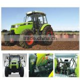 100HP,120HP,130HP farm tractor,16F+8R shift,hydraulic steering,double disc clutch,540/1000 PTO,YTO diesel engine,cabin with fan