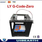 HOT SALE!!! cheap 3d printer machine LY G-code Zero Full Metal,Touch Screen Control high quality 100% good feedback