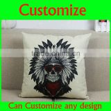 China factory supplier wholesale fashion 100% cotton super soft fashion back cushion cushion cover fabric pillow cover