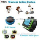 KOQI Wireless Waiter Call Wrist Watch Pager Functional Waiter Paging System Wireless Restaurant Calling System