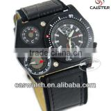 2013 New fashion sport watch for man, temperature & compass function dobule times GTM leather strap sport watch