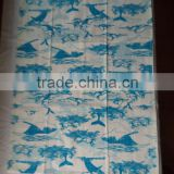 kitchen digital printed linen tea towel for home decorationl,promotion and gift-- sea animal design