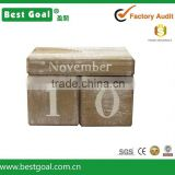 Decorative Table Pieces building block wood Calendar wood desktop calendar
