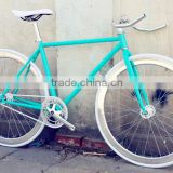 Shiny blue steel frame fixie bike alloy 45mm v deep alloy fixie rim alloy fixie parts