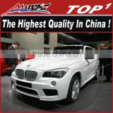 for 2012-2016 bmw x1 for M-sport body kit the highest quality PU/Carbon Fiber Body Kits for BMW X1