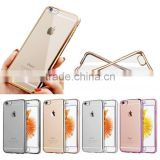 NEW Crystal Clear Transparent Soft TPU Case Cover For iphone 6 6s plus with electroplate bumper                                                                         Quality Choice