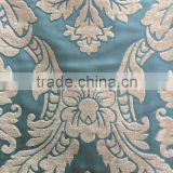 2016 Plain dyed Damask Light Blue Chenille Sofa Curtain Home Textile Fabrics Width 150 cm