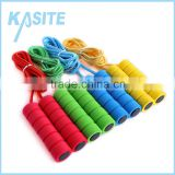 2.7M speed cotton rope skipping ,PP handle with monochrome foam