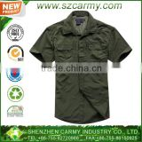 2014 new style Summer quick dry men's short sleeve olive green military tactical shirt