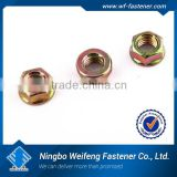 2014 hot fastener products hex flange nut with serration hex flange nylon insert lock nut made in china