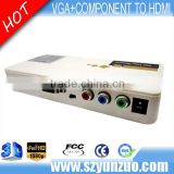 Mini cheap Full HD VGA /Ypbpr composite to HDMI Converter price 1080P