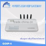 voip gsm gateway 4 / 8 / 16 / 32 ports termincal gateway hot selling with free sim server