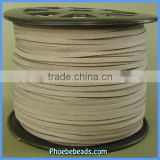Wholesale Flat Beige Faux Suede Cord For Fashion Jewelry Making SC-1124