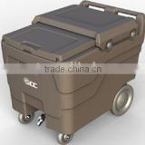 Plastic Storage Caddies, Rotationally molded ice cart for Catering service