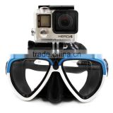 Telesin new release mixture colors tempered glass diving mask for Go Pro, Xiaomi and SJCAM