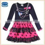 (H5478Y) 2-6y frozen princess elsa dresses girls costume wholesale cheap polka dot dress nova kids elsa girl dress