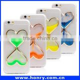 Factory supplier glow at night heart quicksand TPU case for iphone 6