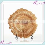YHP#01 gold shell glass charger banquet events party wedding wholesale decor plates                                                                         Quality Choice