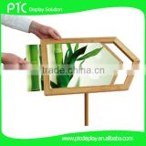 Bamboo arrow sign stand