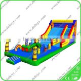 Outdoor splash inflatable water slides for kids/inflatable slide for pool/plastic slide