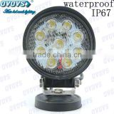Low Price 12volt 27W Led Work Light with High Quality for Mining Truck, Jeep, Offroad Vechicles