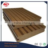 outdoor solid waterproof interlocking wood plastic composite decking/ co-extrusion wpc decking
