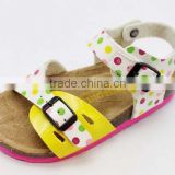 Baby kids cork sole with one buckle adjustable the straps sandals