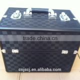 export black beauty colorful black huge storage aluminum makeup case                                                                         Quality Choice