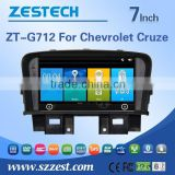 dashboard placement car dvd player for chevrole cruze with GPS/Rear View Camera/BT/3G/WIFI/TV/Radio/RDS functions