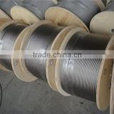 stainless steel wire rope 0.3-100mm with high tension strenghth high breaking loading