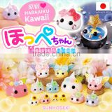 Original and squishy Hoppe-chan figurines as cartoon character soft toy in many sizes