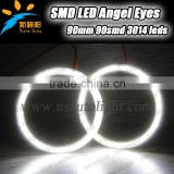 90MM Universal Auto Lamp Light Bulb, 126pcs 3014SMD LED Angel Eyes for BMW, for Honda,for BYD