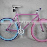 2015 new product! Single speed fixed gear bike, Carbon steel fixed gear bicycle, colorful fixed bike