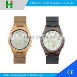 China 100% genuine leather band watch Japan movement wood watch