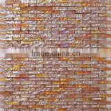 JY-G-103 Top mosaic wholesale wave titanium vitreous glass tile mosaics strip mosaic sheet design