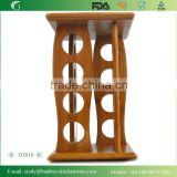 DT016 Paniting Bamboo/Wooden Rotating Kitchen Spice Rack/ Holder for Pepper