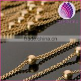 wholesale 3mm copper ball necklace chain