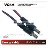 Standard copper conductor. DC power cord