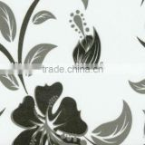high glossy flower design special pattern rigid pvc film for carbinet door with white ground and protect film from Taiwan