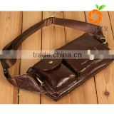 wholeslale guangzhou factory quaility Rfid money belt leather waist pack bum bag
