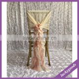 wholesale cheap fancy universal ruffled chiavari chair cover for wedding ,wedding ruffled chiavari chair cover