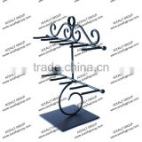 15% Discount Cheap Elegant design Wire Jewelry Display Stand with scroll flourishes, Free Customized Design Services