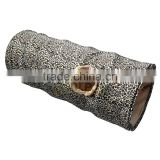 Leopard Print Outdoor Interactive Play Pet Toys Collapsible Cat Tunnel Rabbit Rabbits Crinkle Tunnel with Ring Bell Toy Foldable
